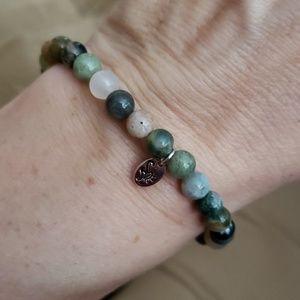Jewelry - Green Beaded Stretchy Bracelet NWOT